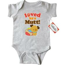Inktastic Loved By A Mutt Dog Design Infant Creeper Puppy Lover Cute Breed Mixed
