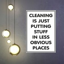 Cleaning Is poster picture print wall art decor