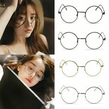 Geek Vintage Retro Eyewear Clear Lens Metal Frame Harajuku Plain Glasses