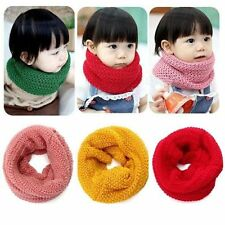 Winter Children Neck Bib Knitted Neckerchief Baby Scarf Warm Collar