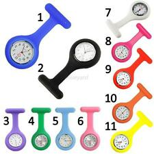 New Silicone Doctor Medical Nurse Watch Brooch Tunic Fob Watch With Free Battery