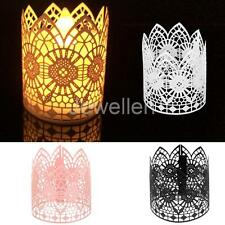 6pcs Tea Light Candle Holders Flameless Candles Wedding Party Table Decorations