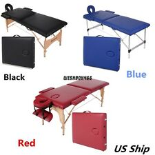 84'' Two-Fold Massage Table Professional Portable Beauty Spa Bed 3 Colors