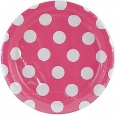 18cm Polka Dot Dessert Plates, 8ct. Shipping Included