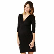 Red Herring Maternity Womens Black Jersey Tie Back Maternity Dress