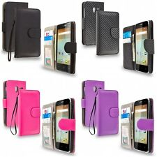 For Alcatel OneTouch Elevate Executive Wallet Flip Case Cover With ID Card Slots