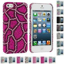 For iPhone 5 5S Color Diamond Rhinestone Bling Cute Ultra Thin Rear Case Cover
