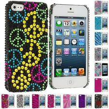 For iPhone 5 5G 5S Color Diamond Rhinestone Bling Cute Rear Back Slim Case Cover