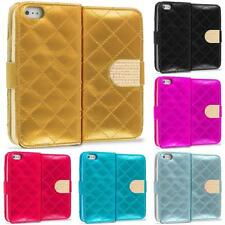 Color Diamond Pattern Wallet Luxury Design Case for Apple iPhone 5 5S