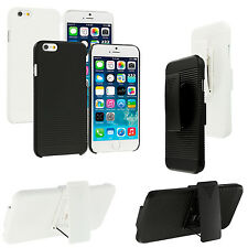 For Apple iPhone 6 (4.7) Belt Clip Holster Rugged Hard Case Cover Stand