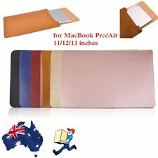 "Business Leather Laptop Sleeve Case Cover for Apple MacBook Pro/Air 11""12""13"" BX"