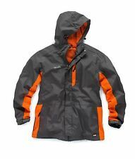 Scruffs Worker Jacket Charcoal Black and Red Waterproof Mens Coat (Sizes S-XXL)