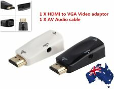 HDMI Male To VGA Female Converter Box Adapter With Audio Cable For PC HDTV BX