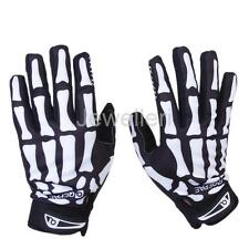 SKELETON SKULL BONE MOTORCYCLE RACING BIKE CYCLING FULL FINGER MECHANIC GLOVES