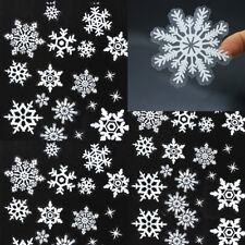 54/78 Elegant Snowflake Window Clings Reusable Stickers Xmas Decorations Decal
