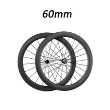Only 1490g 60mm Carbon Clincher Carbon Wheels Road Bicycle Bike Wheelset 700C