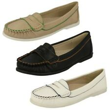 Ladies Spot On Casual Moccasin Loafer Shoes F8974 ~ K