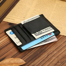 NEW Men Leather Wallets Money Clip Credit Card ID Holder Front Pocket Thin Slim