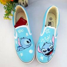 Lilo and Stitch Pattern Women Men Girls Boy's Hand-painted Canvas Slip On Shoes
