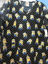 Despicable Me Minions Scrubs Scrub Top Shirt Minion XS S M L XL 2X 3X