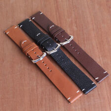 Black Brown 18mm 20mm 22mm Buckle Leather Watch Band Wristwatch strap Watchband