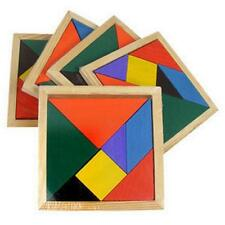 2/1 Wooden 7 Pieces Puzzle Tangram Recognization Baby Kids Intelligent Games Toy