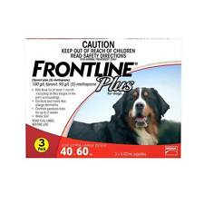 Frontline Plus Red Extra Large Dogs Flea Treatment for 40 to 60kg-- 3 & 6 pack