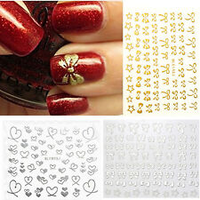 Self-adhered Bowknot Heart Nail Art Tips Sticker DIY Decoration Manicure Decal