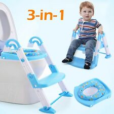 LH 3 in 1 Fold Baby Potty Training Toilet Chair Seat Step Ladder Trainer Toddler