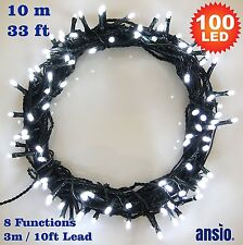 Fairy Lights 100 LED Bright White Christmas Tree Lights Indoor & Outdoor