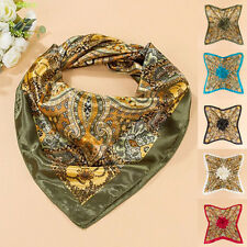 Square Large Headband Kerchief Women Satin 35'' x35'' Scarf Luxury Wrap Bandana