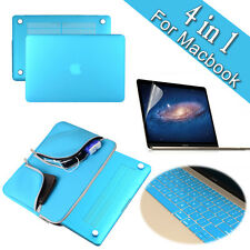 Blue Carry Bag+Hard Case+Keyboard Skin+LCD Cover for Macbook Air Pro 11 13 15''