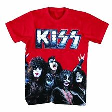 Kiss: Metal Logo Red T-Shirt   Free Shipping  Official