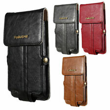 FLOVEME Genuine Leather Pouch Bag Belt-Clip Holster Case For iPhone 6S 7 Plus