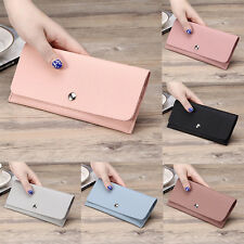 Lady Women PU Leather Wallet Lady Long Card Coin Holder Handbag Bag Clutch Purse