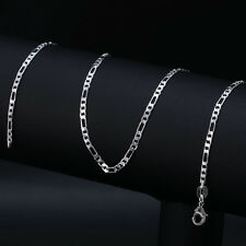 Fashion Jewelry 925 Silver Necklace Chain Women & Men Jewelry 16 -30 inches