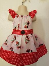# 41 Custom Handmade to order Boutique Peasant Minnie Mouse Dress 12m-5Y