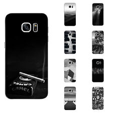 For Samsung Galaxy S6 S7 C7 Edge Case Soft TPU Back Phone Cover Smoke Highway