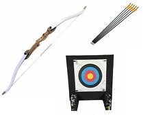 "SF Optimo+ 66"" Take Down Archery Adult Recurve Bow Kit with Target and Arrows"