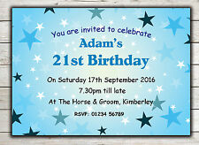 Birthday Invitations, Party Invites, 18th 21st 30th 40th 50th 60th any age Peg 2
