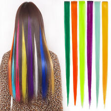 1Pc Women Multicolor Long Straight Synthetic Clip in on Hair Extensions Piece