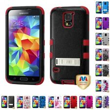 For Samsung Galaxy S5 Hybrid TUFF IMPACT Phone Case Hard Rugged Cover