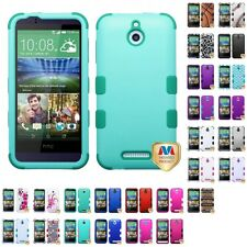 For HTC Desire 510 512 Hybrid TUFF IMPACT Phone Case Hard Rugged Cover