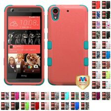 For HTC Desire 626 Hybrid TUFF IMPACT Phone Case Hard Rugged Cover