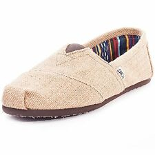 Toms Womens Classic Burlap Natural Low Top Canvas Flat Shoe - 9M
