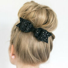 Fashion Women Girls Sequins Big Bowknot Barrette Hairpin Hair Clips Hair Bow v