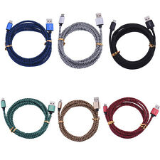 Strong Braided USB Charger Cable Data Sync Charge Cord for iPhone Android Phone