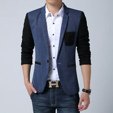 Mens Fashion Slim Fit One Button Blazers Suit Coat Spring Casual Jackets Plus
