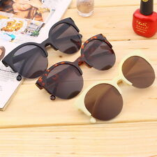 Retro Black Lens Vintage Men Women Round Frame Sunglasses Glasses Eyewear EJ