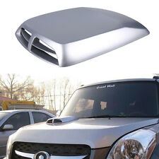 Car Exterior Front Hoods Air Flow Intake Scoop Bonnet Vent Engine Covers Silver